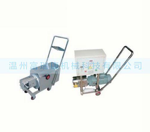 不锈钢移动式凸轮转子泵,移动型无级变速转子泵,高粘度输送泵,药料泵,鞋底泵