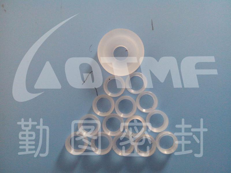 供应pctfe密封垫圈 耐低温自润滑塑料垫圈 机械设备优质三氟配件