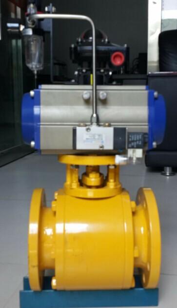 一核陶瓷气动球阀 陶瓷球阀 碳钢球阀