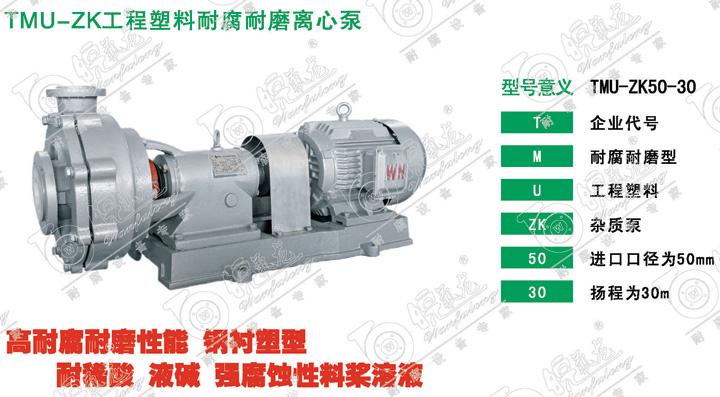TMU-ZK工程塑料耐腐耐磨离心泵