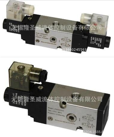 不锈钢电磁阀 板接式两位五通电磁换向阀