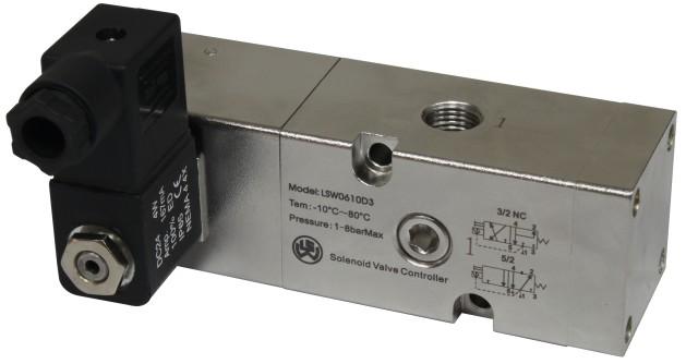 单电控全不锈钢316电磁阀 板接式两位五通电磁换向阀