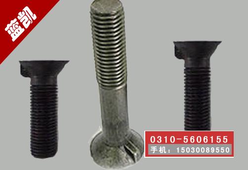 沉头带榫螺栓|GB11单耳沉头|高强带榫沉头|沉头带榫规格|沉头带榫螺栓厂家