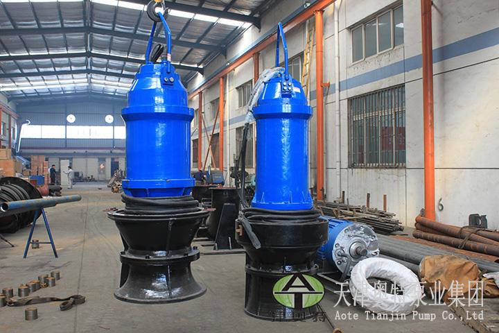山东水泵站立式潜水轴流泵安装尺寸大小