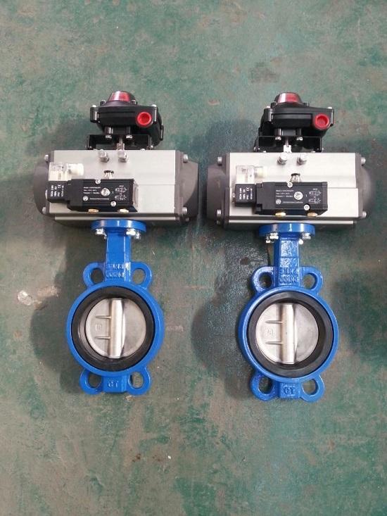 气动电磁阀成套应用,阀门回讯器,蝶阀成套