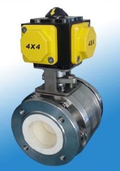 Q641TC气动陶瓷球阀 氧化锆球阀 不锈钢气动球阀