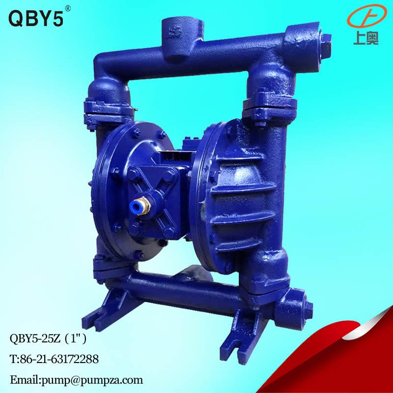 第五代QBY5-25Z铸铁气动隔膜泵 化工隔膜泵 耐腐蚀泵