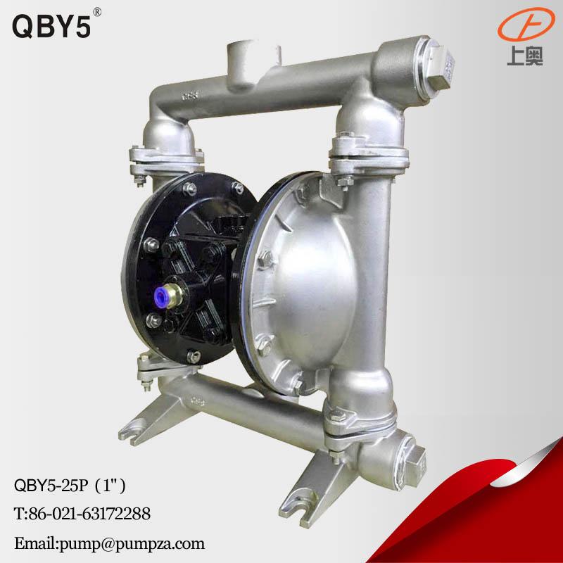 第五代QBY5-25P不锈钢气动隔膜泵 化工隔膜泵 耐腐蚀泵