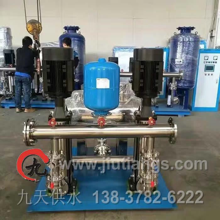 开封九天供水JTK55-85-60*2型号二次增压无塔供水设备的优点
