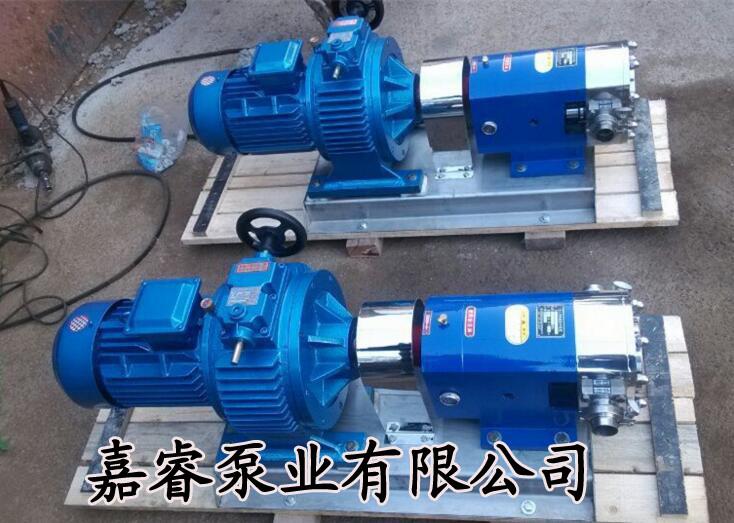 转子泵厂家生产销售凸轮转子泵高粘度转子泵嘉睿牌食品卫生泵