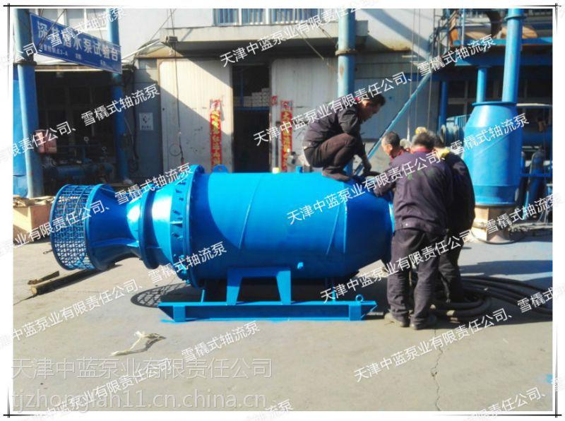 厂家供应专用河道给排水QZB雪橇式潜水轴流泵
