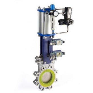 物料糖浆专用气动刀型闸阀结构特点结构简单、操作灵活、重量轻、无卡阻、切断快