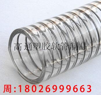 供应TPU钢丝管,不含塑化剂,食品级钢丝管,食品软管