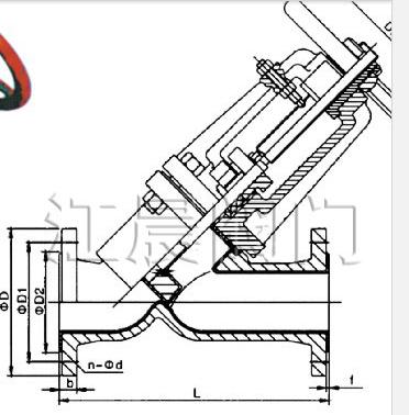 J45J直流式衬胶截止阀