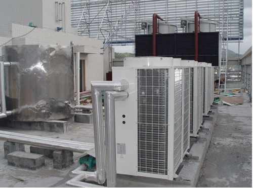 浙江舟山石斑鱼养殖厂空气能热泵热水系统