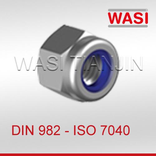 尼龙锁紧螺母DIN982 ISO7040
