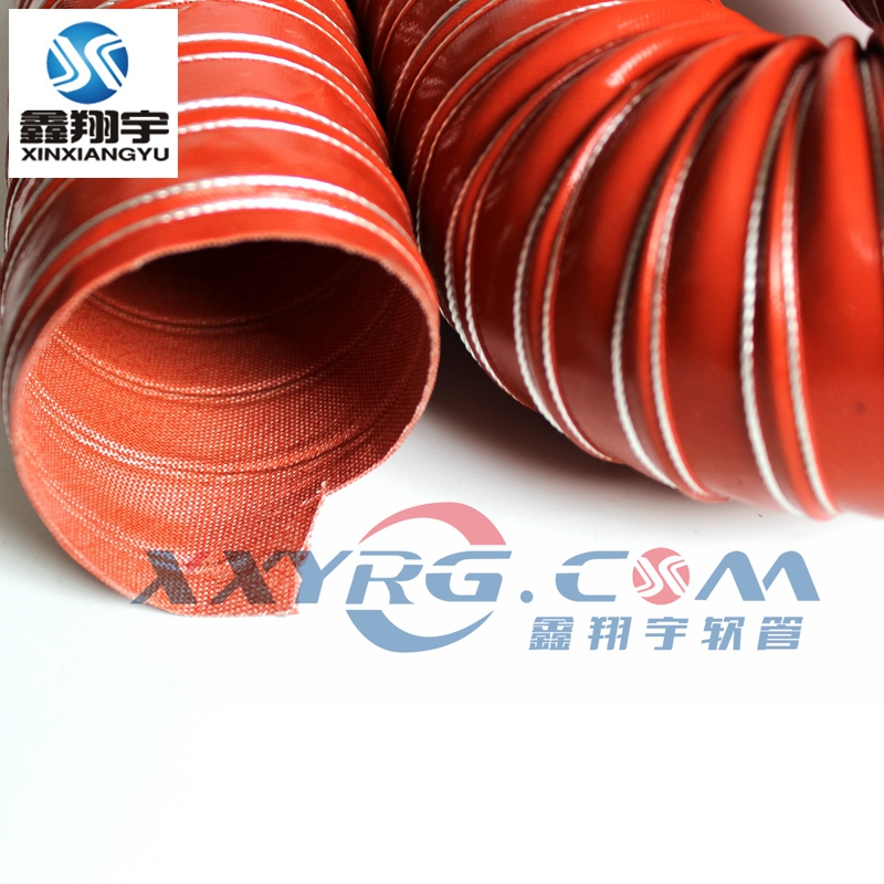 高温硫化硅胶风管红色耐高温软管矽胶风管