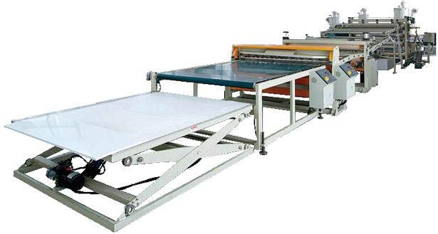 环保PP三层工程建筑模板生产线