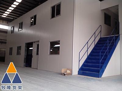 东莞立柱式阁楼货架的仓储量就是大