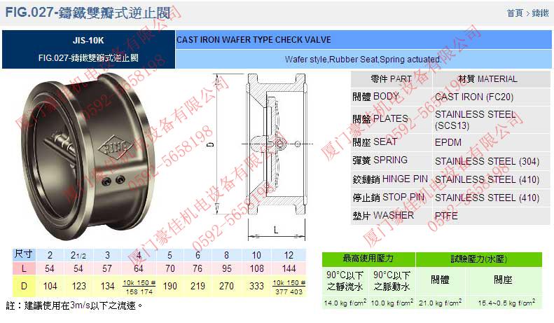 台湾RING东光阀门FIG.890延性铸铁齿轮式蝶阀