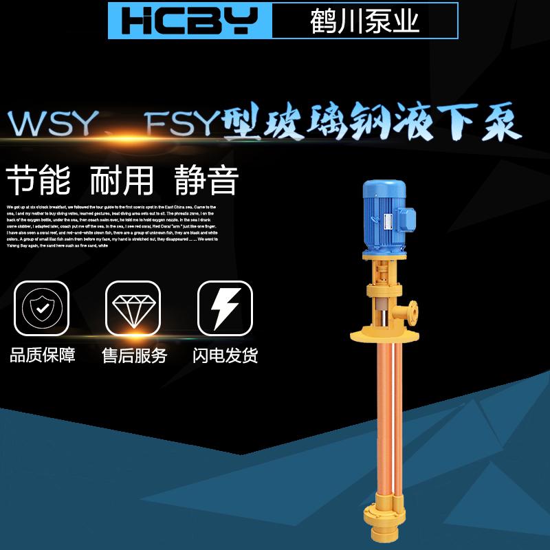 鹤川深井泵离心泵厂家供应 耐腐蚀液下离心泵 FYS化工泵