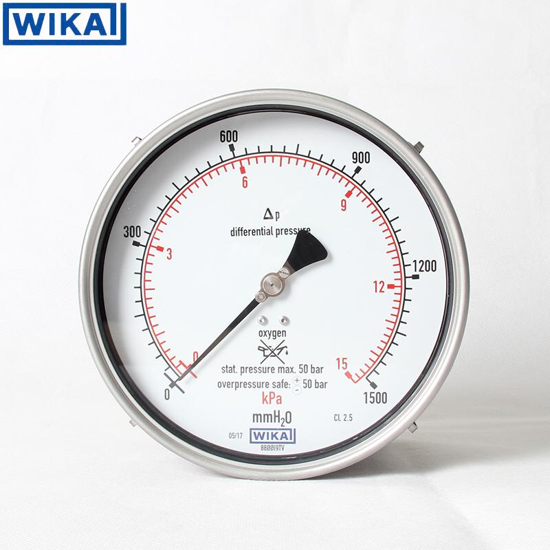 威卡WIKA差压液位计表头氧气表712.15.160不锈钢液位差压压力表