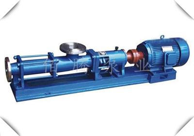G型污泥单螺杆泵 不锈钢耐腐蚀浓浆泵 压滤高浓度输送可定制调速