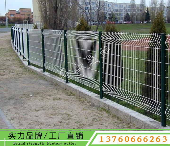 惠州工厂围栏网厂家 公园围墙铁丝网 道路隔离栏