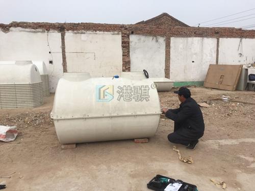 家用化粪池平面图 蹲坑冲水桶安装-港骐