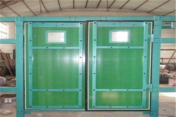 矿用竹胶板风门竹胶板矿用平衡双向对开式行人风门