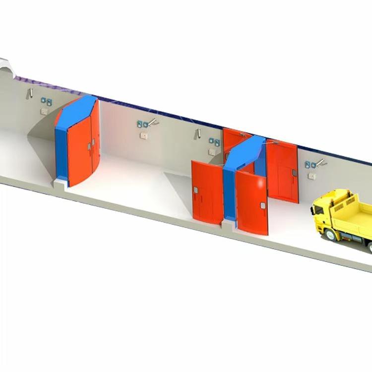 纯气控连锁减压风门|矿用全自动减压风门的结构