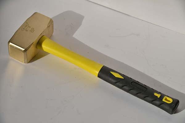 防爆黄铜德式八角锤黄铜榔头纯铜八角锤矿用手锤防爆铜手锤