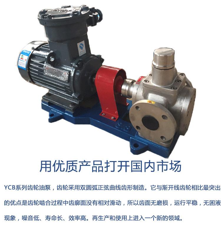 小流量高精泵YCB不绣钢卧式泵 船用泵