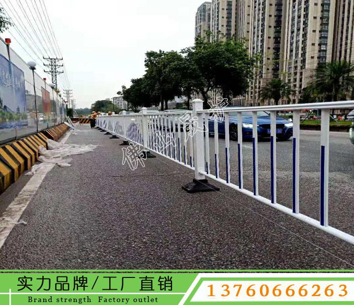 中山马路两侧隔离栏杆 人车分流面包管护栏 京式护栏