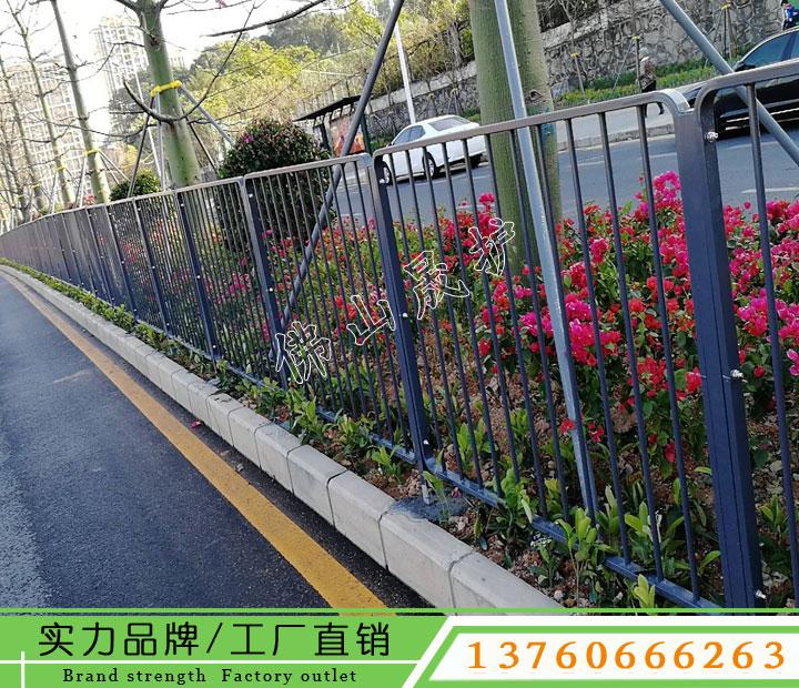 深圳城市美化工程护栏 绿化带港式隔离栅 道路交通栏杆