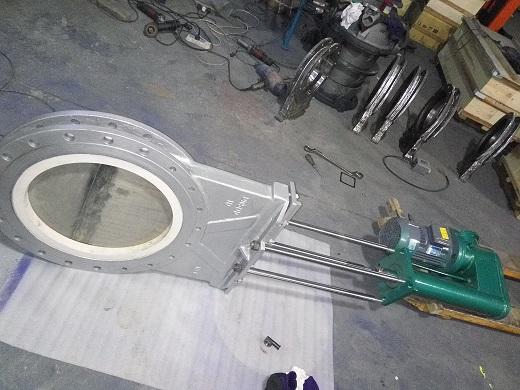 一核电液动陶瓷插板阀