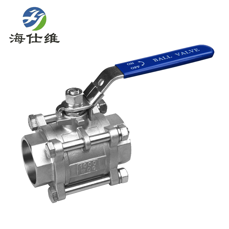 源头厂家  海仕维品牌三片式套焊球阀 承插焊球阀  304材质