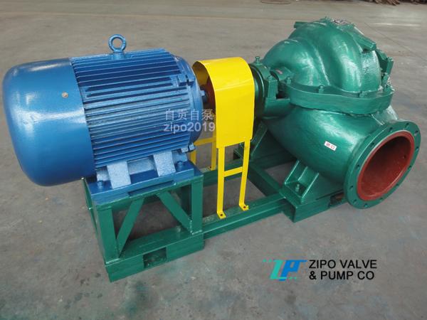 自贡自泵水泵厂ZS或ZSH大流量中开蜗壳式单级双吸离心泵循环泵清水泵
