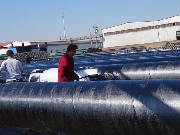 污水螺旋焊管生产基地-河北德鑫3油2布防腐