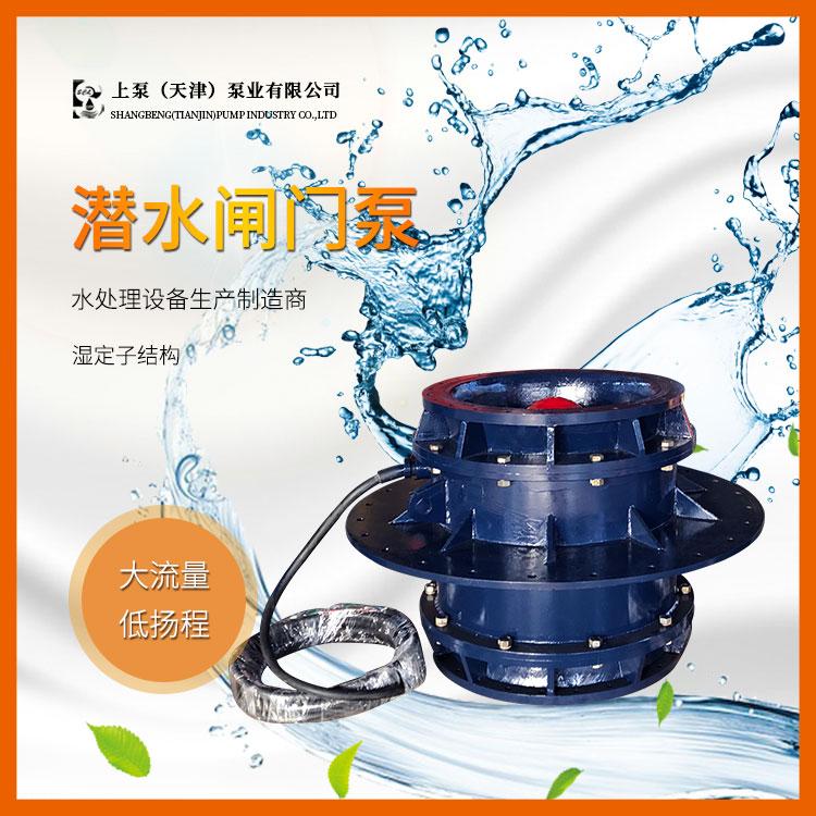 大流量QGWZ全灌流潜水闸门泵价格-参数-型号