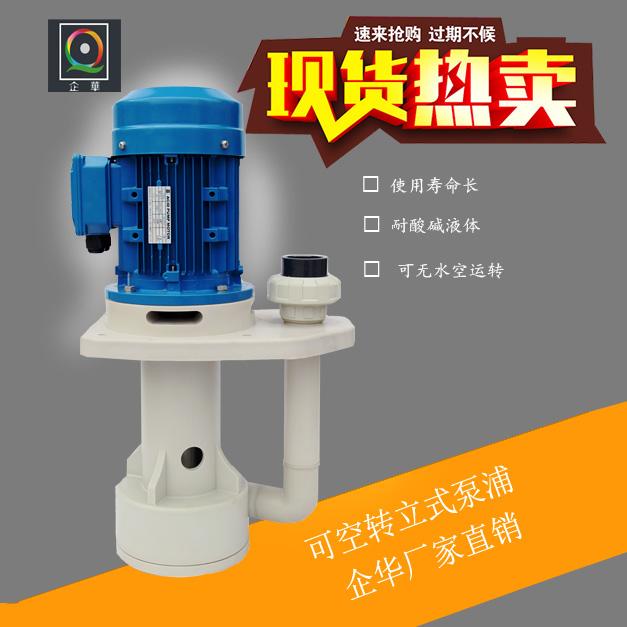 企华耐酸碱耐腐蚀可空转真立式槽内槽外泵立式泵