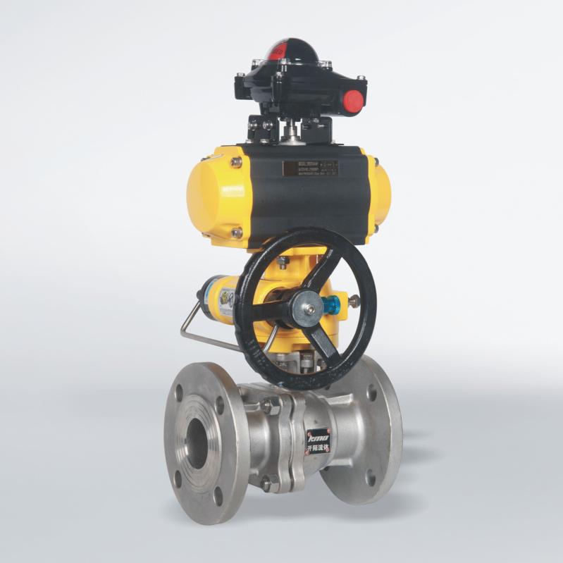 厂家直供-气动浮动球阀 法兰式 碳钢