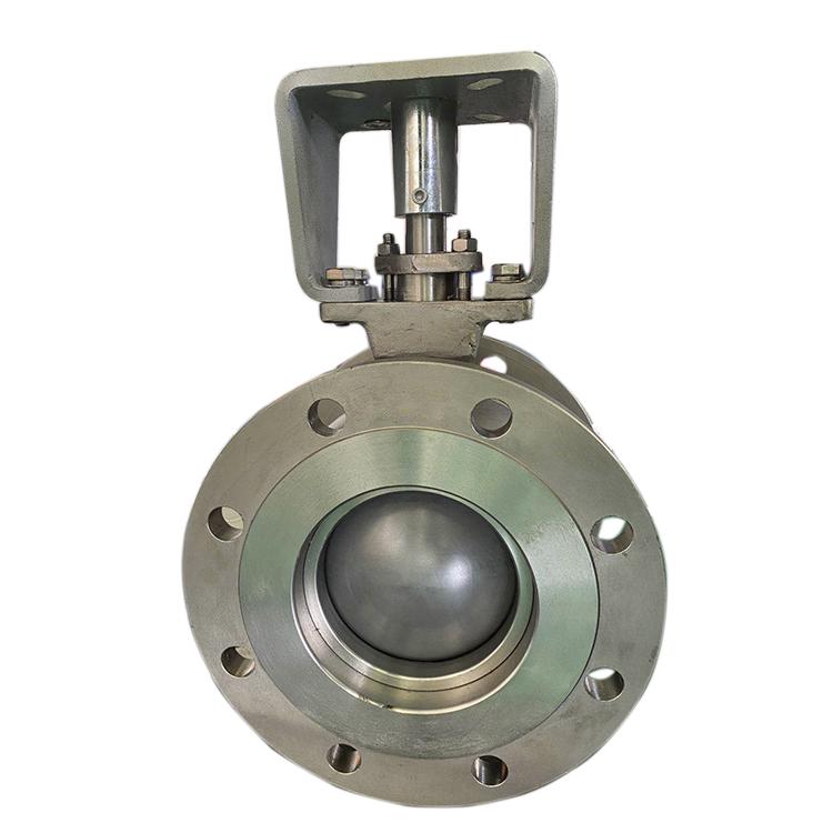 手动耐磨球阀 硬质合金密封V型球阀 压滤机矿浆专用耐磨v型球阀