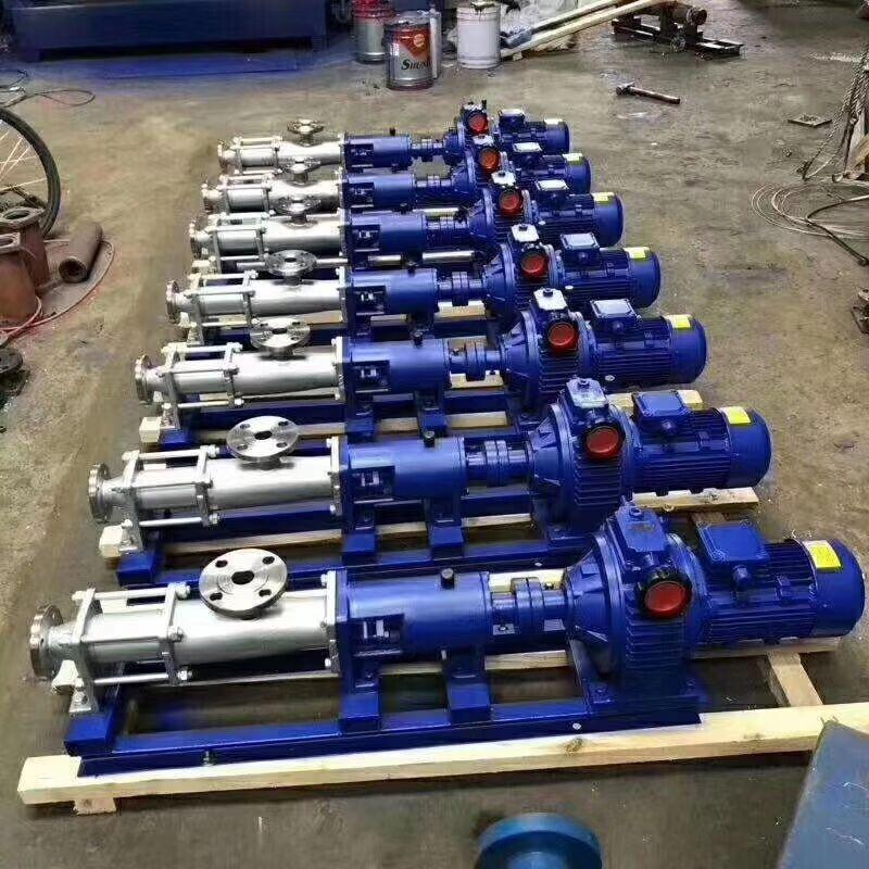 上海康全G型单螺杆泵 化工卧式污泥输送泵 高扬程污泥泵 压滤机泵