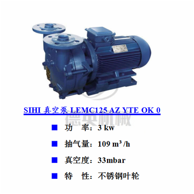 LEMC125AZ YTE OK 0德国斯特林SIHI希赫真空泵