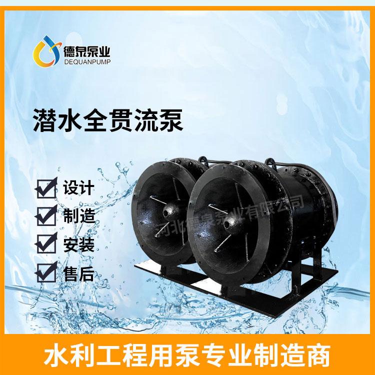 湿定子结构1000QGWZ-155KW全贯流泵报价