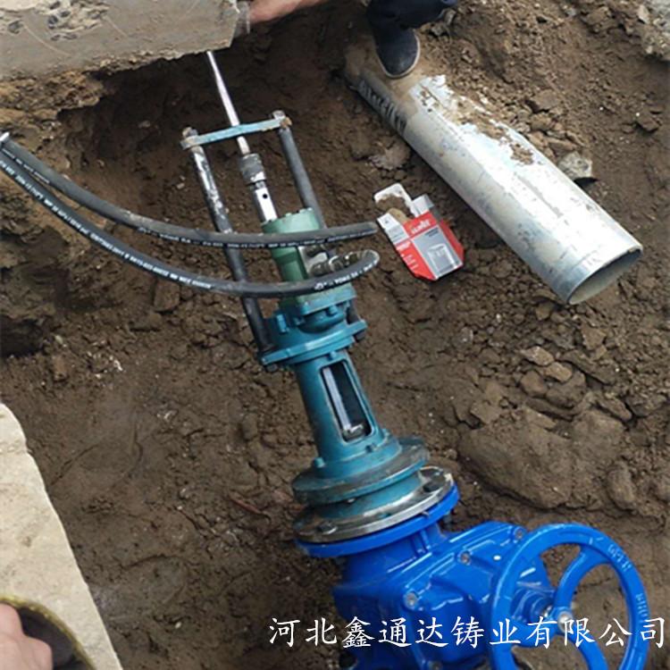 自动管道带压开孔钻 DN80-200管道不停水开孔机 鑫通达开孔钻
