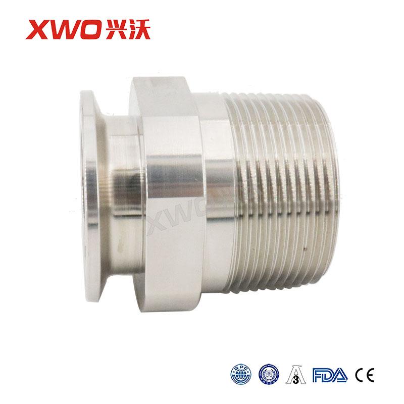 兴沃科技卫生级食品级快装/焊接螺纹装换器螺纹接头外丝304316L