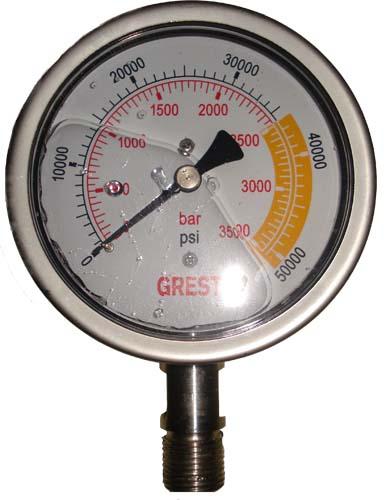 进口高压压力表