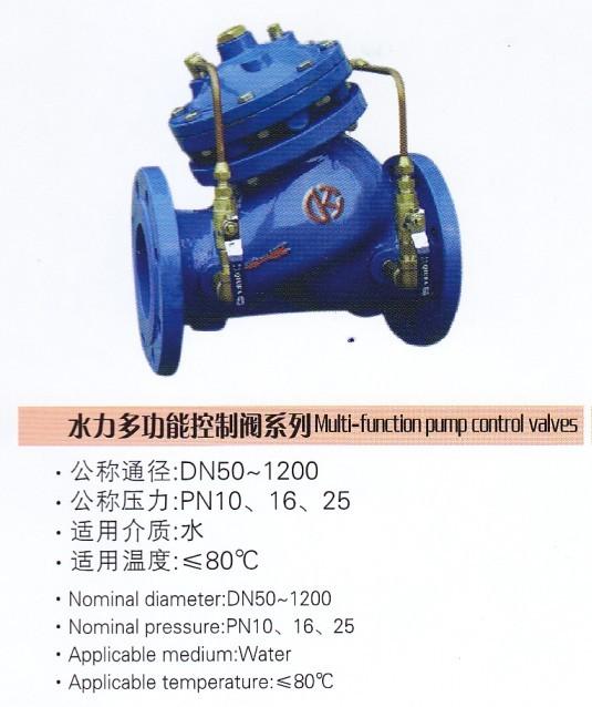 供应 水力多功能控制阀 系列图片